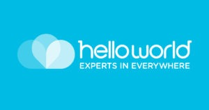 HELLOWORLD EXPERTS IN EVERYWHERE LOGO